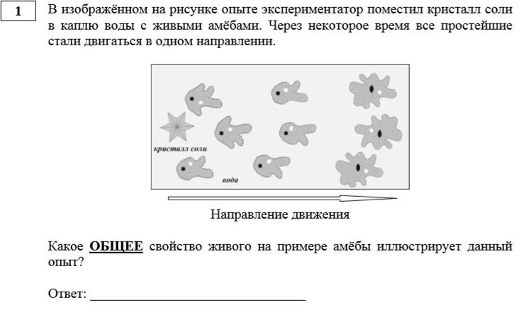 задание 1 ОГЭ по биологии